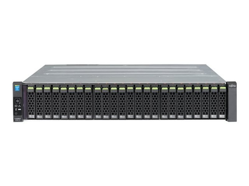 Fujitsu Eternus DX60 S3 2.5 inch disks, dual controller system with 2 x 2 port 1Gb iSCSI interface Diskless Storage System