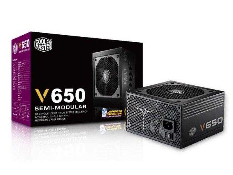 Coolermaster V650 SemiModular 80 Plus Gold Power Supply
