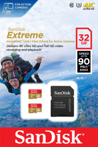 SanDisk 32GB Extreme mSDHC for Action Card