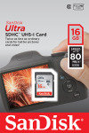 SanDisk  Ultra 16GB SDHC Memory Card