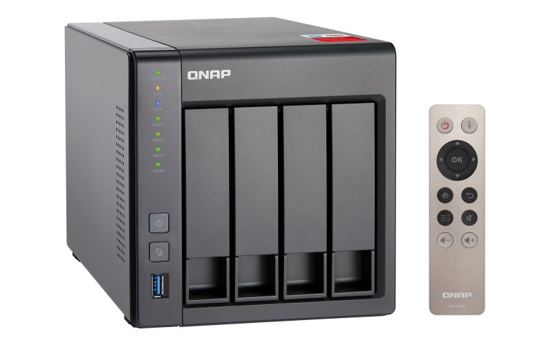 QNAP TS4512G 4TB (4 x 1TB WD RED) 2GB RAM 4 Bay Desktop NAS