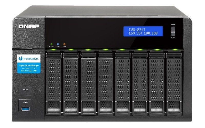 Image of QNAP TVS-871T-I7-16G 32TB (8 x 4TB WD RED PRO) 8 Bay NAS with 16GB RAM
