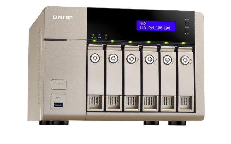 Image of QNAP TVS-663-4G 36TB (6 x 6TB WD RED PRO) 6 Bay NAS Unit with 4GB RAM