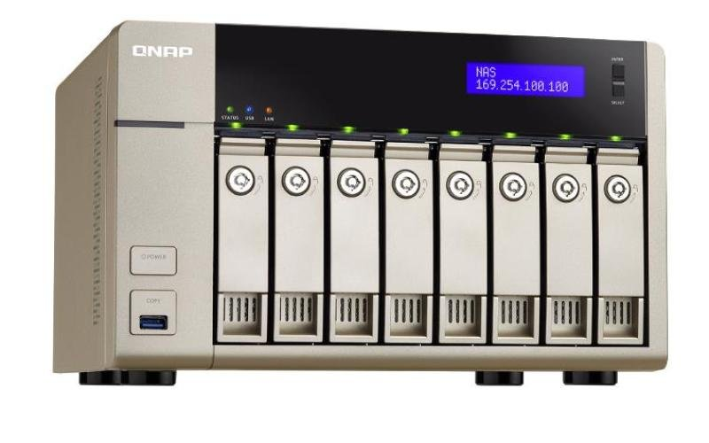 Image of QNAP TVS-863+-8G 32TB (8 x 4TB WD RED PRO) 8 Bay NAS Unit with 8GB RAM