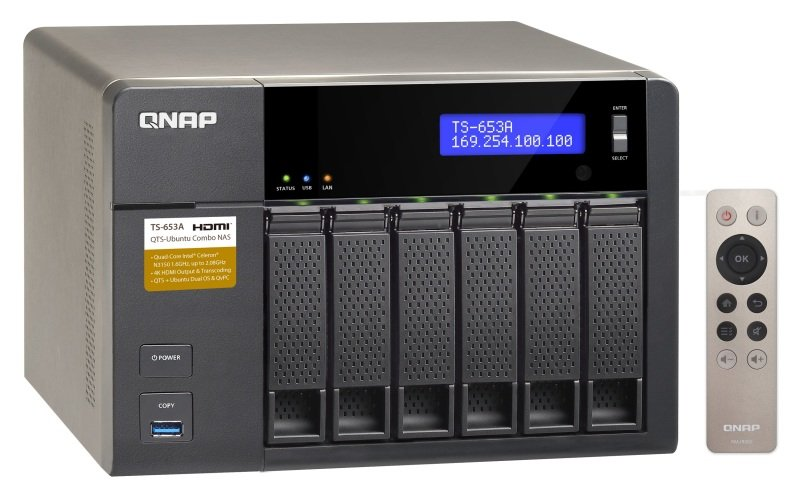 QNAP TS653A4G 6TB (6 x 1TB WD RED) 4GB RAM 6 Bay Desktop NAS