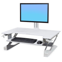 Ergotron WorkFit, Sit-Stand Desktop Workstation White