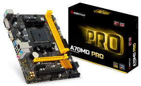 Biostar A70MD PRO Ver. 6.x Socket FM2+ VGA DVI 6-Channel HD Audio Micro ATX Motherboard