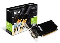 MSI GeForce GT 710 2GB DDR3 LP VGA Dual-Link DVI-D HDMI PCI-E Graphics Card