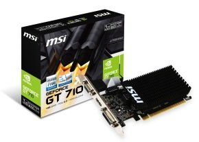 MSI GeForce GT 710 1GB DDR3 LP VGA Dual-Link DVI-D HDMI PCI-E Graphics Card