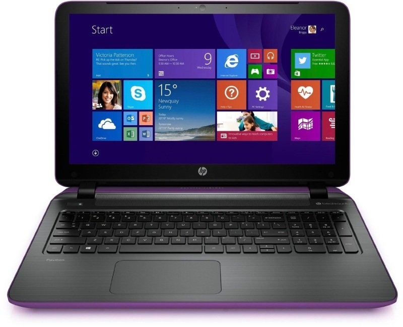 "Image of HP Pavilion 15-P273NA Laptop, AMD A8-6410 2GHz, 4GB RAM, 1TB HDD, 15.6"" LED, DVDRW, AMD R5, WIFI, Webcam, Bluetooth, Windows 8.1 64bit - Includes Free Tech Air case"