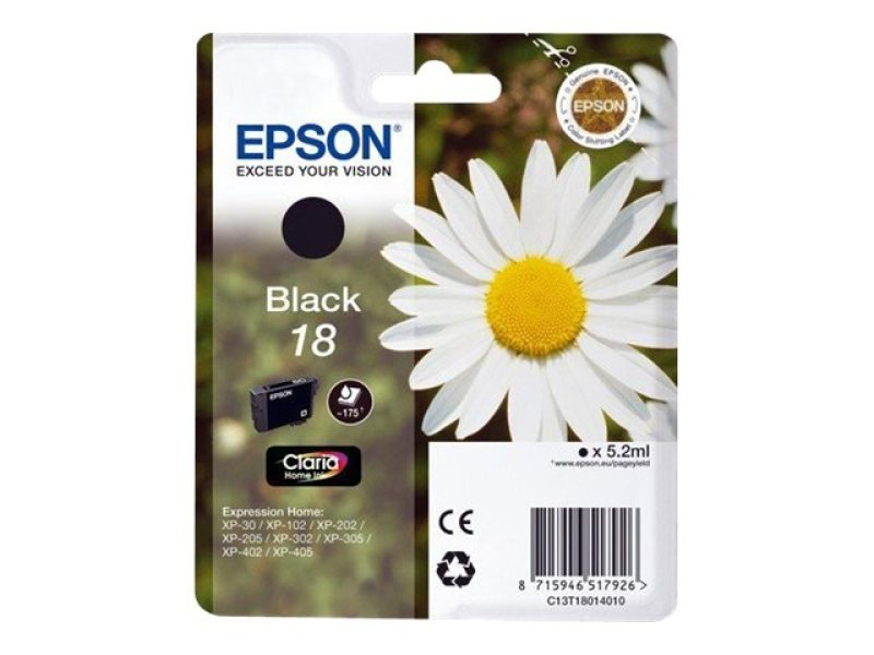 Epson 18 Daisy Black Ink Cart