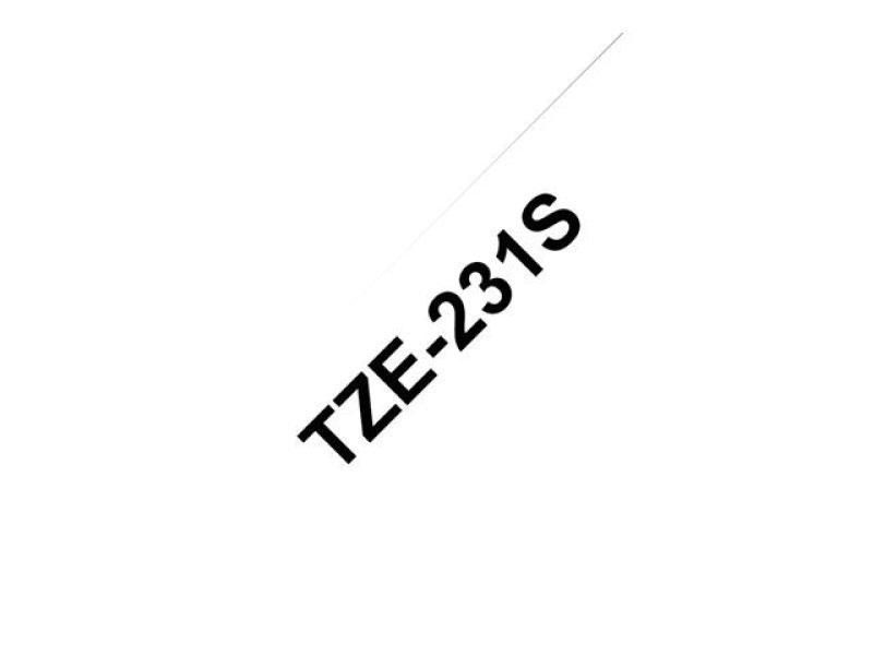 Brother TZE-231S Black On White (4 Meter)