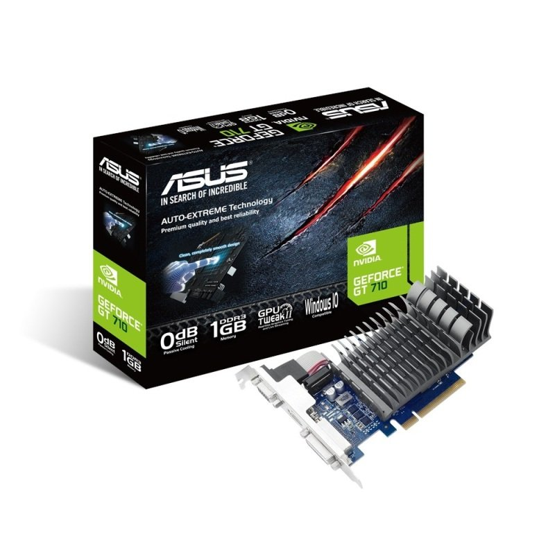 Asus GeForce GT 710 1GB DDR3 VGA DVID HDMI PCIE Graphics Card