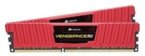 Corsair Vengeance Vengeance LPX 8GB (2 x 4GB)PC4-19200 2400MHz DDR4 DIMM C16 Memory Kit - Red