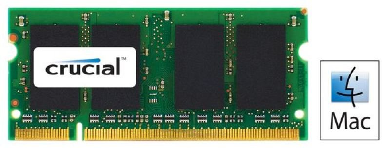 Crucial 2GB DDR2 800MHz (PC26400) CL6 SODIMM 200 pin for Mac