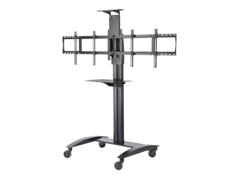 Peerless Smartmount Flat Panel Video Conferencing Tv Cart  For 2 X 40 Inch- 55 Inch Tv's