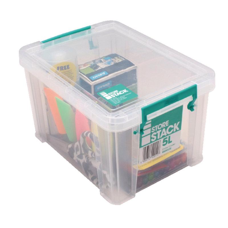 StoreStack 5 Litre Clear Storage Box