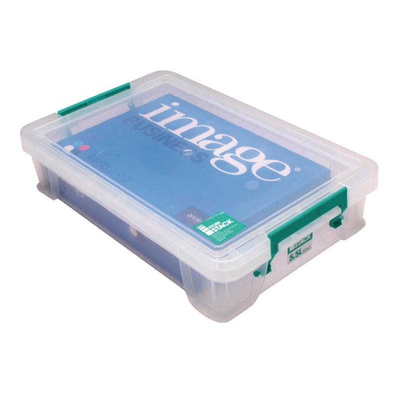 StoreStack 5.5 Litre Clear Storage Box