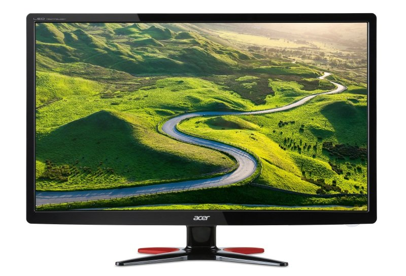 G246HLFbid61cm (24) Wide 169 FHD 1ms 100M1 ACM 250nits LED DVI HDMI EUROUK EMEA MPRII Black wRed stand Acer EcoDisplay