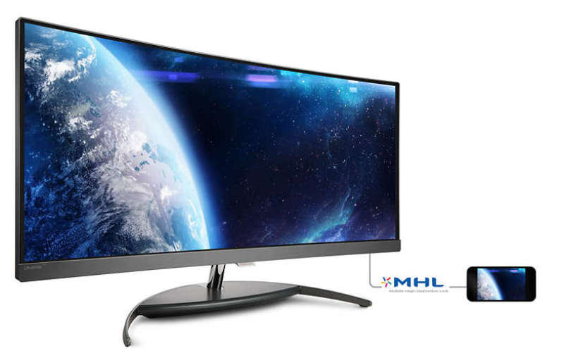 "Philips BDM3490UC 34"" IPS WQHD Curved Monitor"