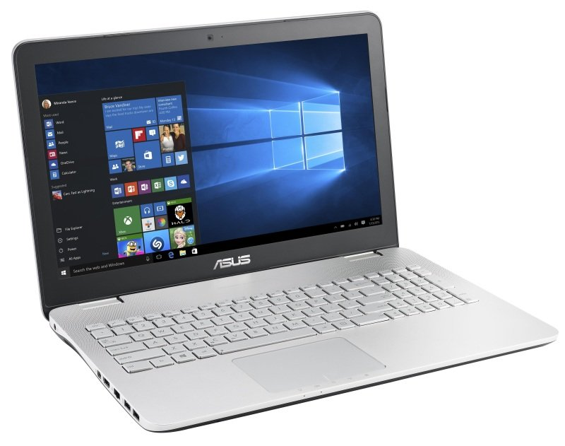 Image of Asus N551VW Laptop, Intel Core i5-6300HQ 2.3GHz, 12GB RAM, 750GB HDD, 128GB SSD, 15.6 FHD LED, DVDRW, NVIDIA 960M, WIFI, Webcam, Windows 10 Home 64