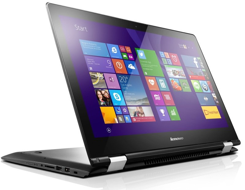 "Image of Lenovo Yoga 500-15ISK Convertible Laptop, Intel Core i5-6200U 2.3GHz, 8GB RAM, 1TB HDD, 15.6"" Touch, No-DVD, Intel HD, WIFI, Webcam, Bluetooth, Windows 10 Home"