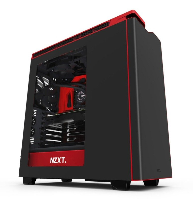 NZXT H440 New Edition Matte BlackRed Case with Side Window