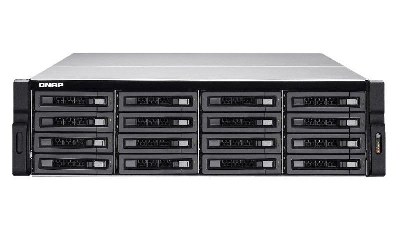 Image of QNAP TVS-EC1680U-SAS-RP 48TB (16x3TB WD RED PRO) 16 Bay 3U Rack 16GB RAM