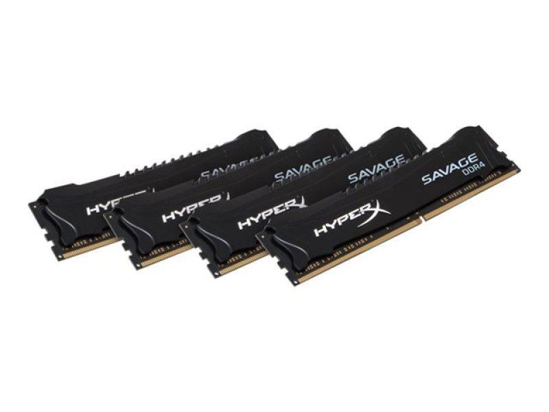 HyperX Savage 16GB Kit (4x4GB) DDR4 2800MHz Intel XMP CL14 DIMM Memory