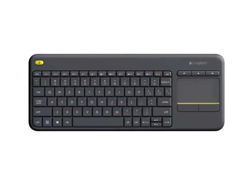 Logitech Wireless Touch Keyboard K400 Plus QWERTY UK Layout Black