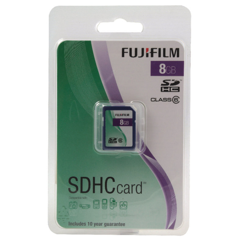 Image of Fuji 8GB Secure Digital Memory Card HC Class 6