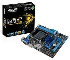Asus M5A78L-M LE/USB3 Socket AM3+ VGA DVI 8 Channel Audio mATX Motherboard