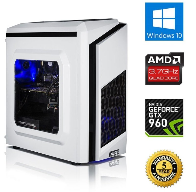 Image of Chillblast Fusion Warrior Gaming PC, AMD X4 860K 3.7Ghz, 16GB RAM, 1TB HDD, NVIDIA GTX 960 2GB, 500W, Windows 10 Home 64bit
