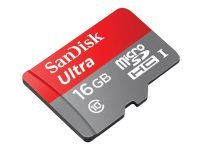 SanDisk Ultra 16GB microSDHC Memory Card with Adapter