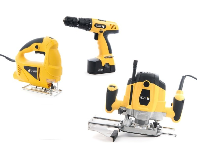 Router Jigsaw and Drill Tool Bundle