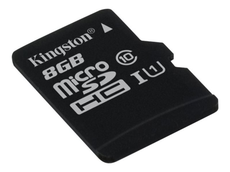 Kingston Technology 8GB microSDHC Class 10 UHS-I 45R Flash Card Single Pack w/o Adapter