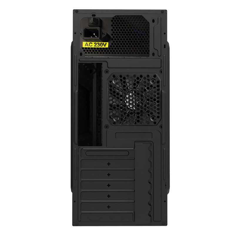 CIT Ignition Black Midi Case With 12cm Blue LED Fan