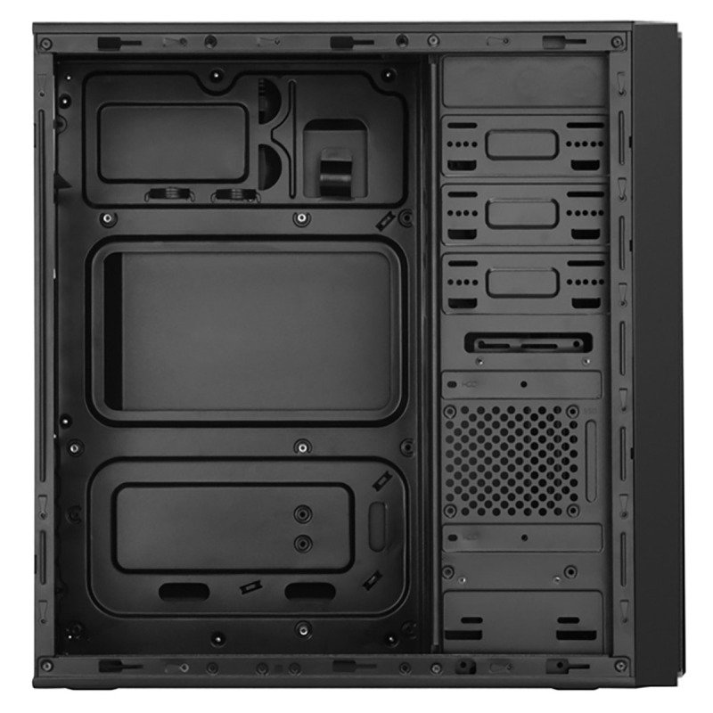 CIT Ignition Black Midi Case With 12cm Red LED Fan