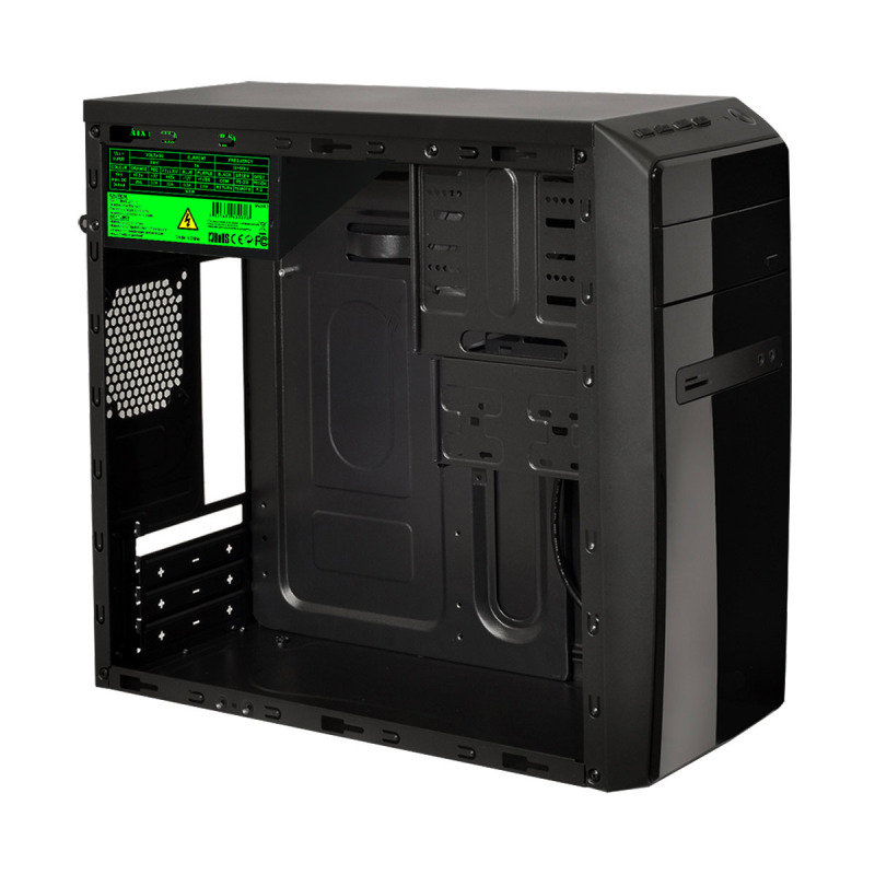 CIT Phaser Black Midi Case 1 x USB3 3 x USB2 1 x 9cm Rear Fan Black 500W PSU