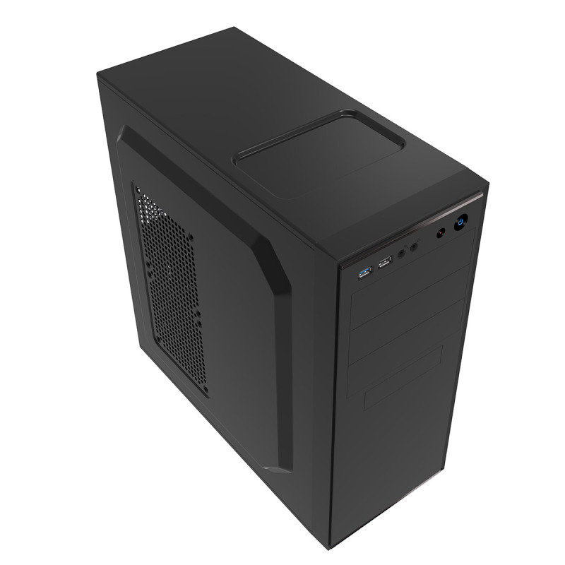 CIT Jet Stream Black Midi Case With Silver Stripe 500W PSU
