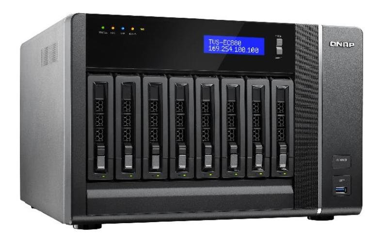 Image of QNAP TVS-EC880-E3-8G 24TB (8 x 3TB WD RED) 8 Bay NAS Unit with 8GB RAM