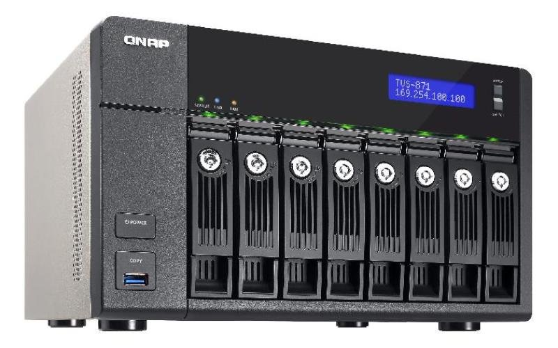 Image of QNAP TVS-871-i5-8G 8TB (8 x 1TB WD RED) 8 Bay NAS Unit with 8GB RAM
