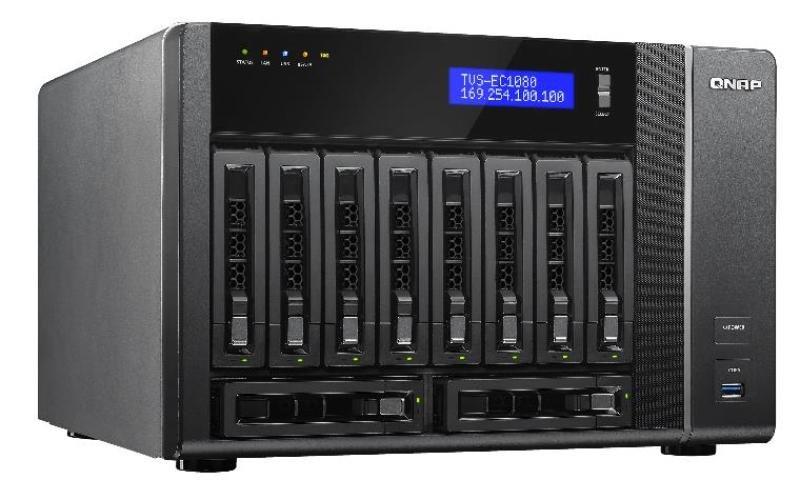 QNAP TVS-EC1080+-E3-32G 20TB (10x2TB WD RED) 32GB RAM 10 Bay Desktop NAS