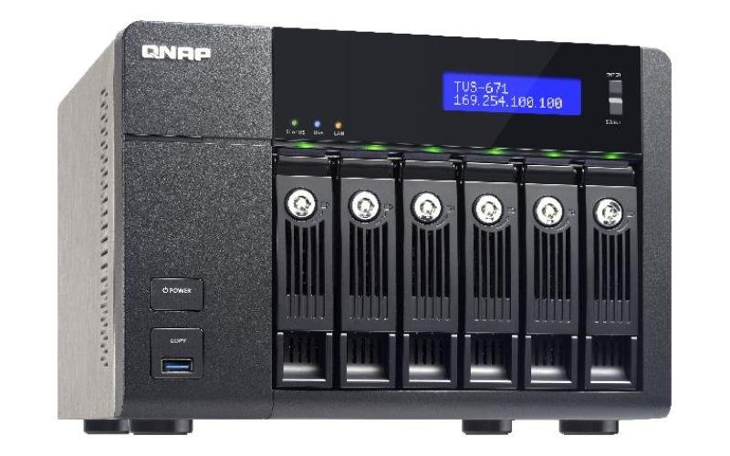 QNAP TVS671I34G 24TB (6 x 4TB WD RED PRO) 6 Bay NAS with 4GB RAM