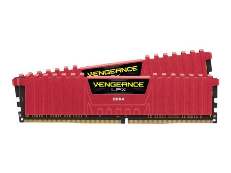 Corsair Vengeance Vengeance LPX 8GB (2 x 4GB)PC4-19200 2400MHz DDR4 DIMM C16 Memory Kit - Red