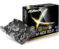 ASRock H81M-HDS R2.0 Socket 1150 VGA DVI-D HDMI 5.1 CH HD Audio Micro ATX Motherboard
