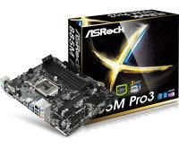 ASRock B85M Pro3 Socket 1150 VGA DVI-D HDMI 5.1 CH HD Audio Micro ATX Motherboard