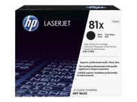 HP 81X Black High Yield LaserJet Toner Cartridge - CF281X