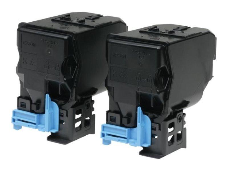 Epson S050751 Black Toner Cartridge Twin Pack (Pack of 2)