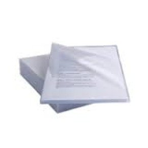 Rexel Anti Slip Cut Flush Folders Clear Pack of 25